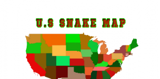 North American Snakes Map