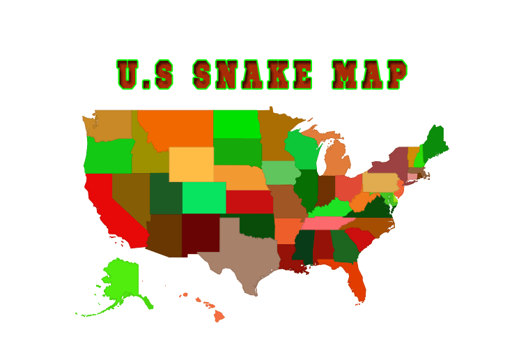 North American Snakes US Interactive Map Cobrasorg